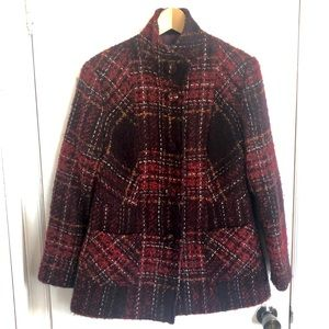 Tabi   Vintage Wool & Alpaca Blend Plaid Coat   M